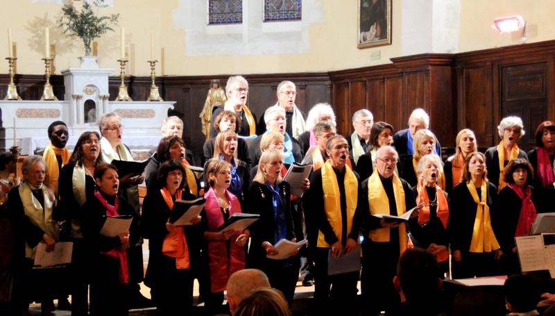 Concert de la Chorale Voix d'Argence dans l'église de Jonquières Saint Vincent